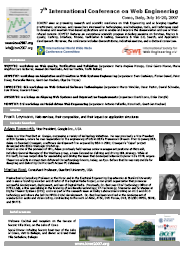 ICWE flyer with program highlights